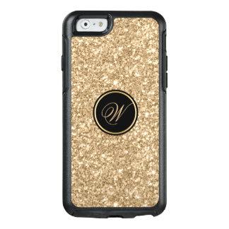 Light Golden Glitter Texture Print OtterBox iPhone 6/6s Case
