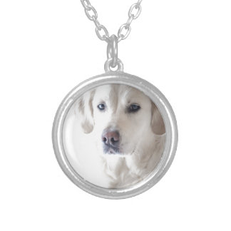 Light Golden Retriever Silver Plated Necklace