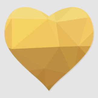 Light Goldenrod Abstract Low Polygon Background Heart Sticker