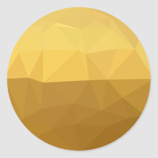 Light Goldenrod Abstract Low Polygon Background Round Sticker