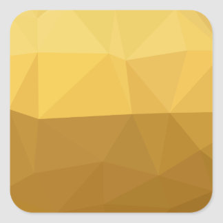 Light Goldenrod Abstract Low Polygon Background Square Sticker