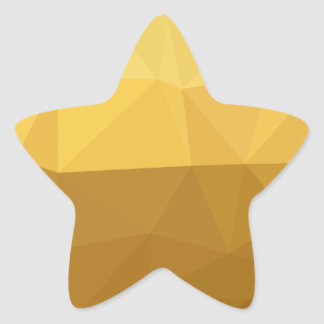 Light Goldenrod Abstract Low Polygon Background Star Sticker