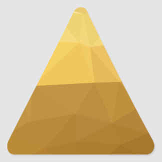 Light Goldenrod Abstract Low Polygon Background Triangle Sticker