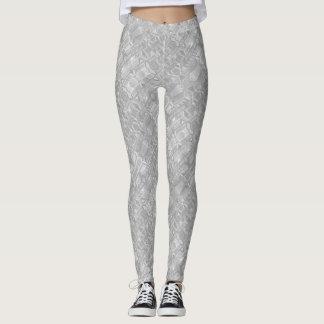 Light Gray Abstract Pattern Leggings