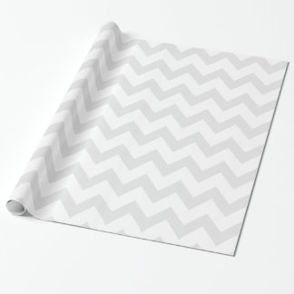 Light Gray and White Chevron Pattern Wrapping Paper