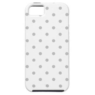 Light Gray and White Polka Dot Pattern. Case For The iPhone 5