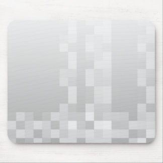 Light Gray and White Squares Pattern. Mousepads