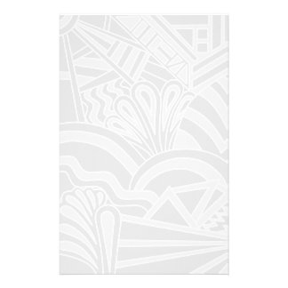 Light Gray Art Deco Style Design. Stationery
