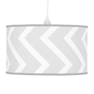 Light Gray Chevron Lamp