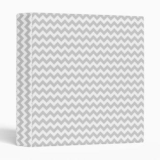 Light Gray Chevron (thin lines) Pattern Binders
