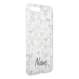 Light gray confetti design iPhone 8 plus/7 plus case