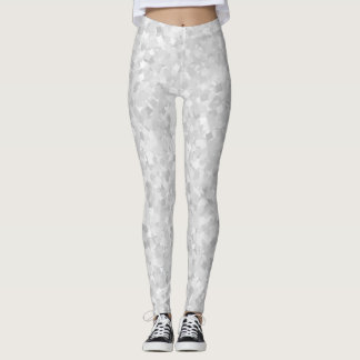 Light gray confetti design leggings