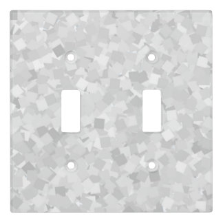 Light gray confetti design light switch cover