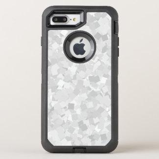 Light gray confetti design OtterBox defender iPhone 7 plus case