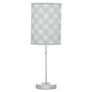 Light Gray Gingham Lamp