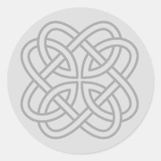 Light Gray Irish Celtic Love Knot Envelope Seals