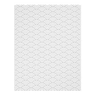 Light gray Japanese wave pattern scrapbook paper