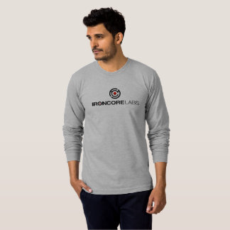 Light gray long sleeved IronCore on front T-Shirt