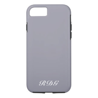 Light Gray Modern Professional With White Monogram iPhone 8/7 Case