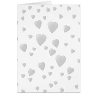 Light Gray Pattern of Love Hearts. Card
