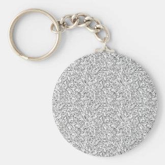 Light gray texture basic round button keychain