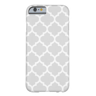 Light Gray White Moroccan Quatrefoil Pattern #5 Barely There iPhone 6 Case