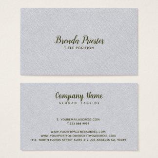 Light Grayn Burlap Linnen Texture Business Card