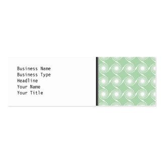 Light green and white swirl pattern. mini business card