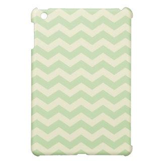 Light Green and Yellow Chevron Pattern iPad Mini Cover