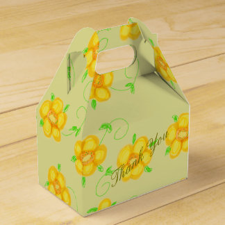 Light Green And Yellow Favor Box