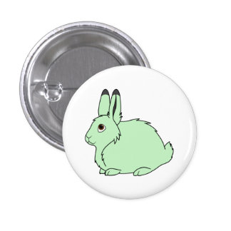 Light Green Arctic Hare 1 Inch Round Button