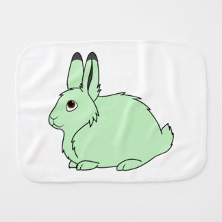 Light Green Arctic Hare Baby Burp Cloth