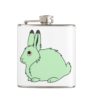 Light Green Arctic Hare Flasks