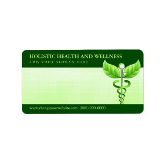 Light Green Caduceus Alternative Medicine Symbol
