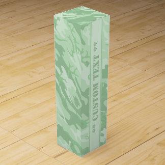 Light Green Camo w/ Custom Text Wine Box