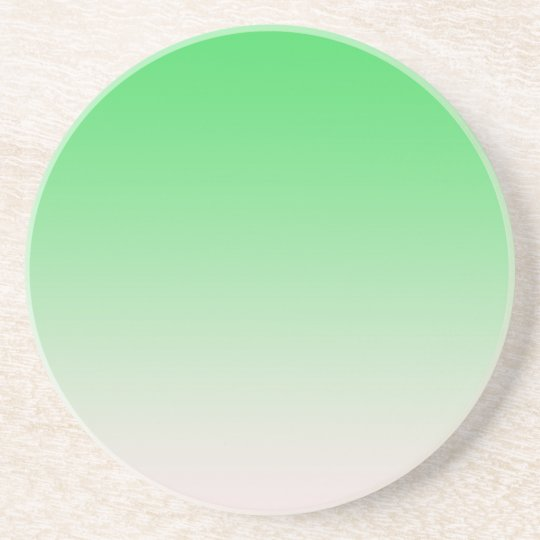 Light green  colour gradient coaster