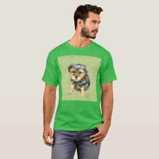 Light Green Dog Stare Art Watercolor Rare T-Shirt