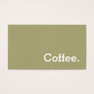 Light Green Flannel Loyalty Coffee Punch-Card Business Card