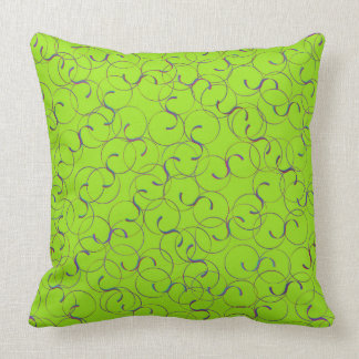 Light Green Flourishes Pillow
