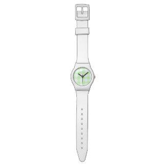 light green gingham check wrist watch