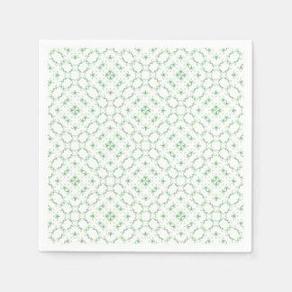 Light Green Kaleidoscope Pattern Paper Napkin