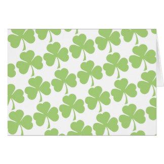 Light Green Shamrock Pattern Cards