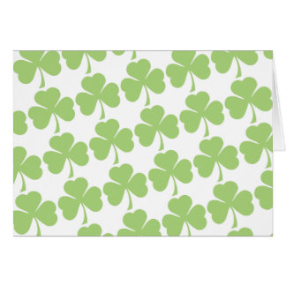 Light Green Shamrock Pattern Note Card