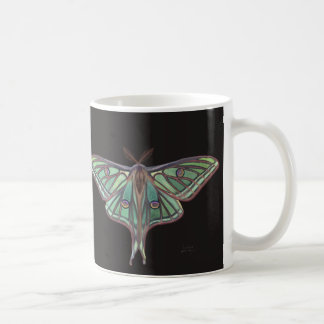 Light Green Spanish Moon Moth Realistic Painting Coffee Mug