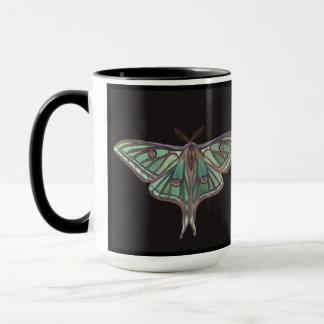 Light Green Spanish Moon Moth Realistic Painting Mug