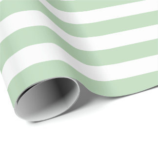 Light Green Stripe Christmas Wrapping Paper
