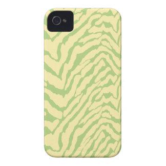 Light green Zebra skin Pattern iPhone 4 Case
