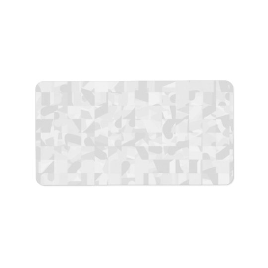 Light Grey Abstract Pattern. Label