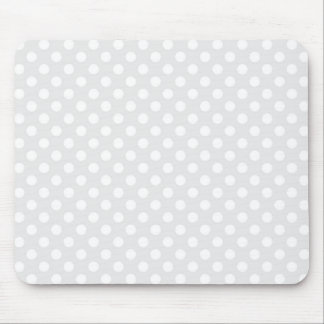Light Grey and White Polka Dot Mouse Pad