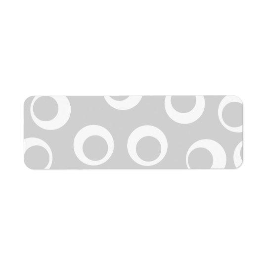 Light grey and white retro pattern. return address label